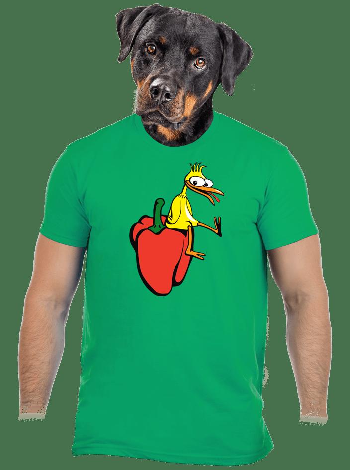 Kura na paprike pánske tričko