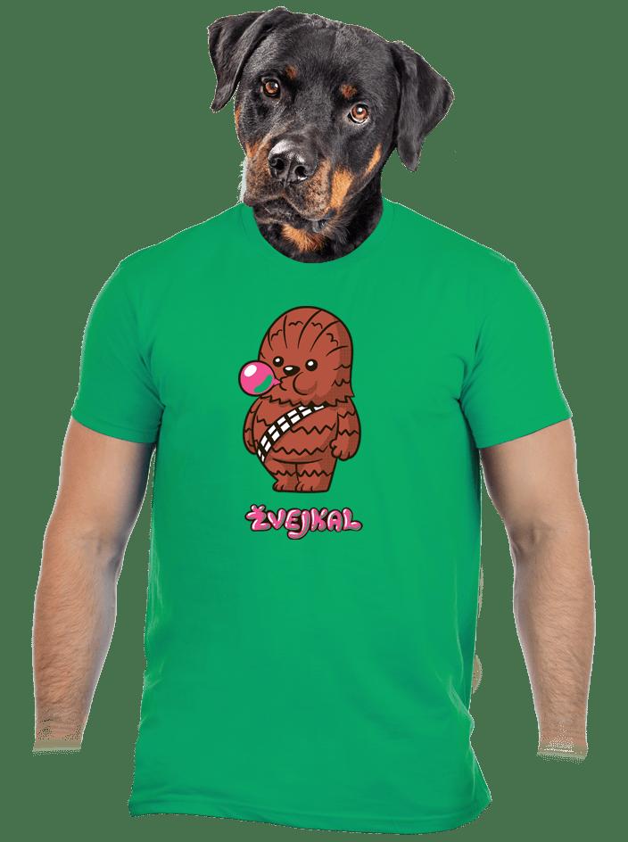 Žvejkal zelené pánske tričko