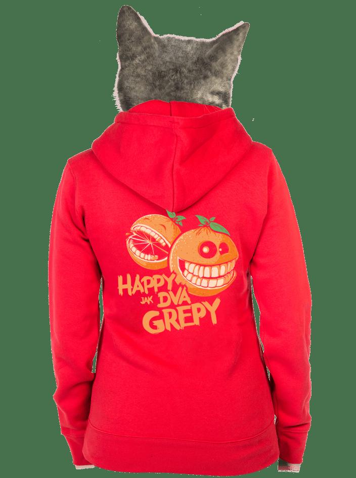 Happy grepy dámska mikina – chrbát