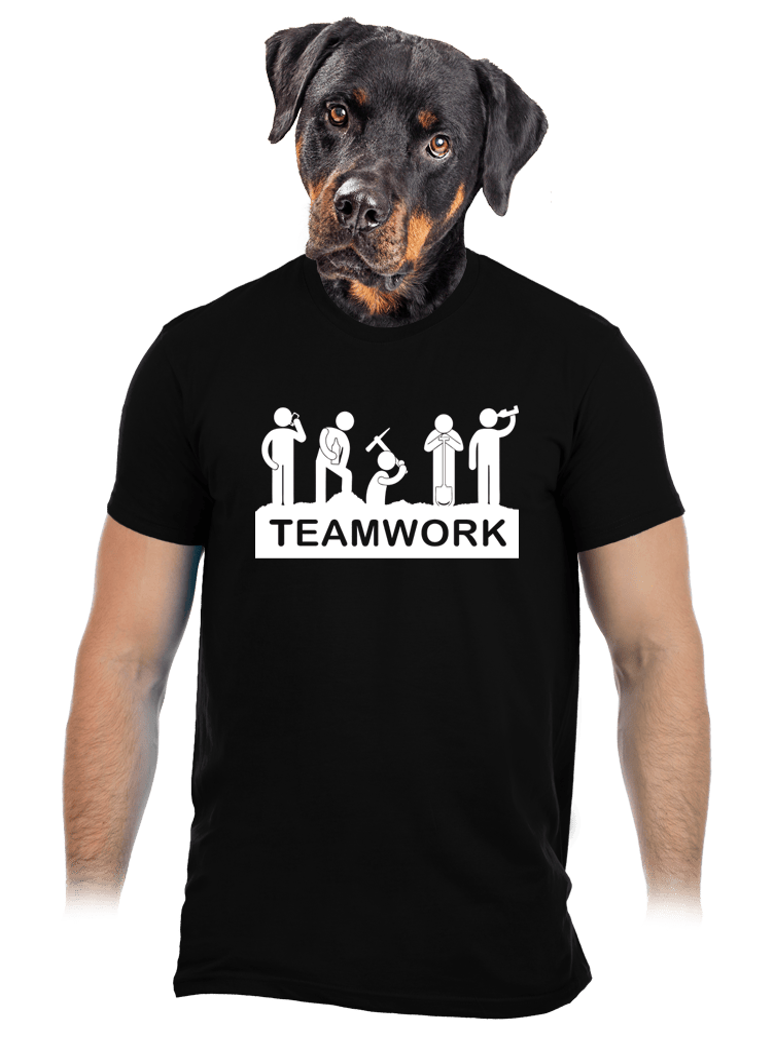 Flákači čierne pánske tričko