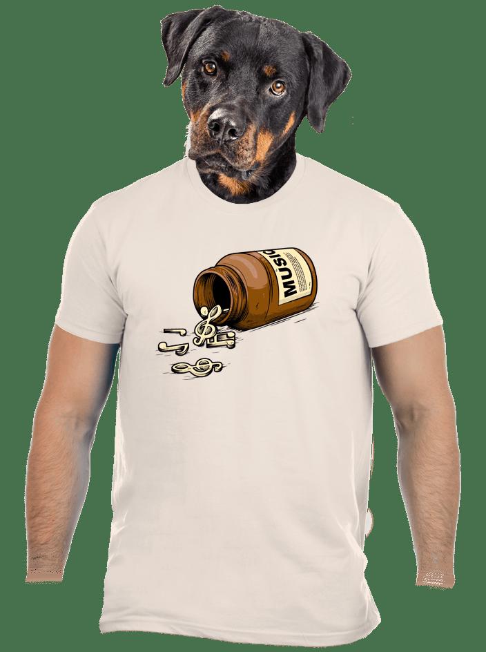 Music pills krémové pánske tričko