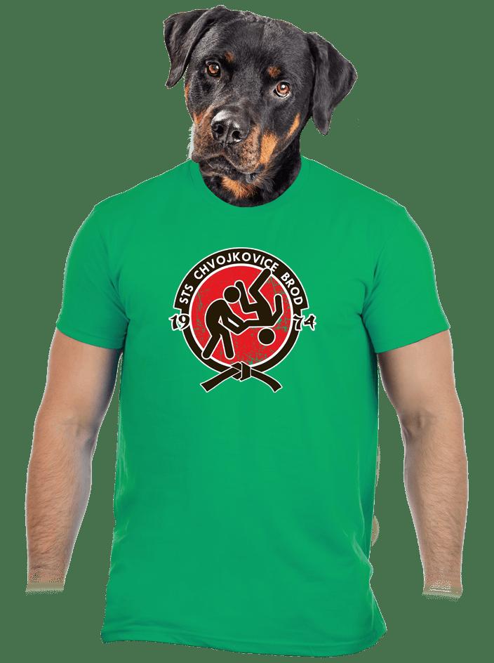 Slušnej oddíl zelené pánske tričko