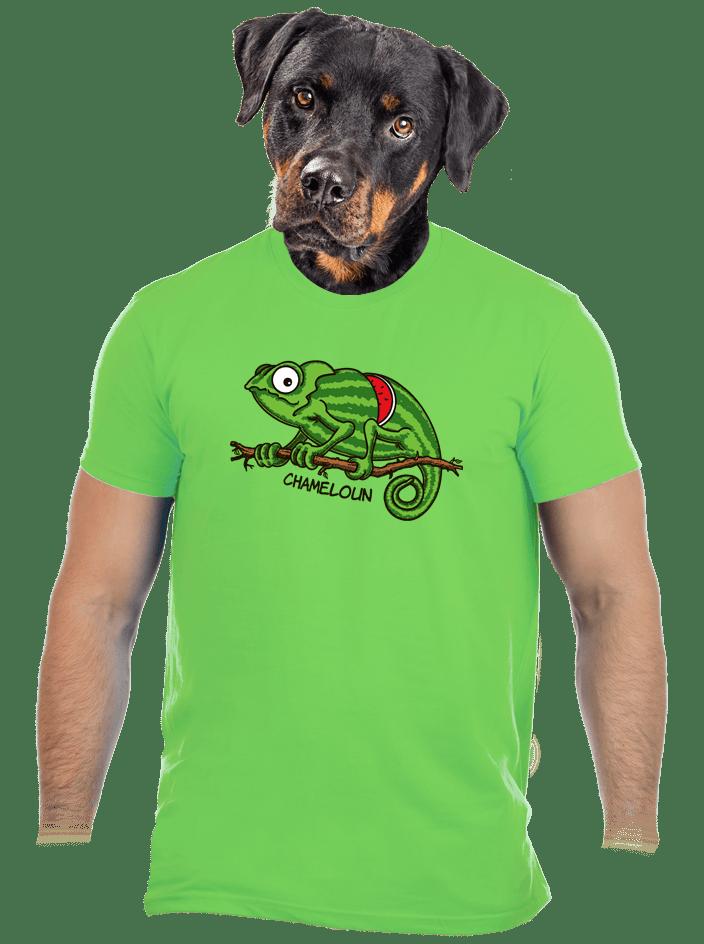 Chameloun zelené pánske tričko