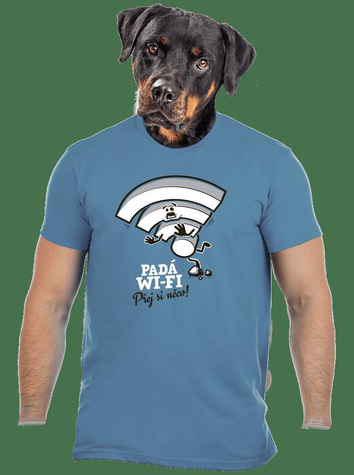 Padá wi-fi pánske tričko
