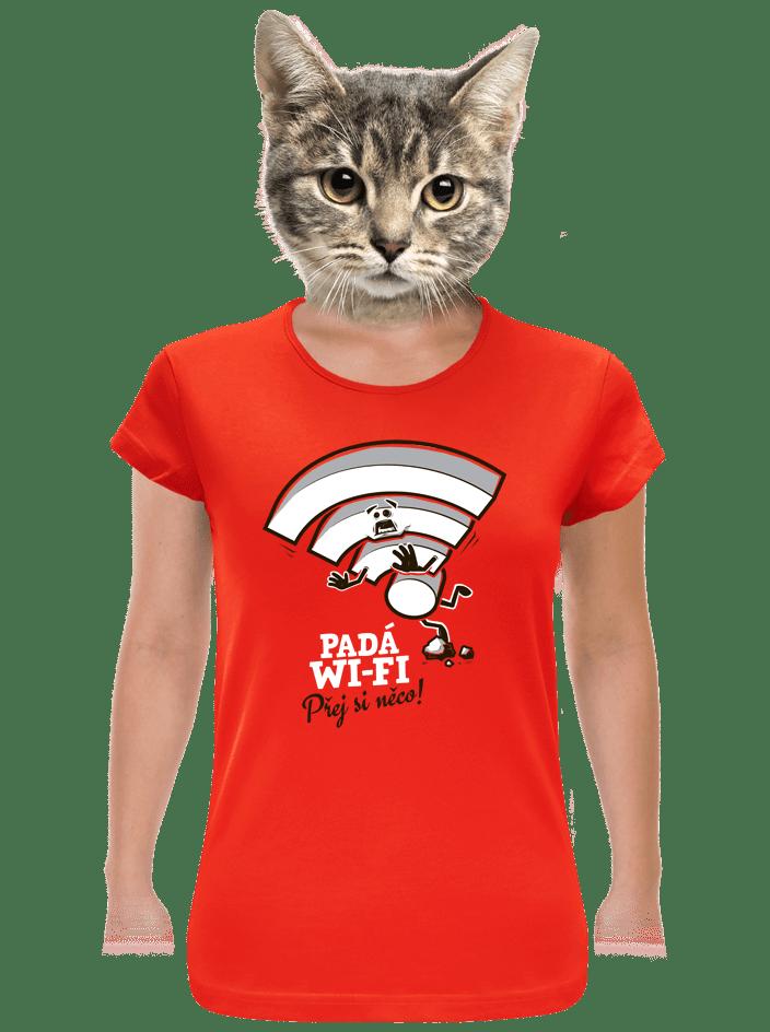 Padá wi-fi dámske tričko
