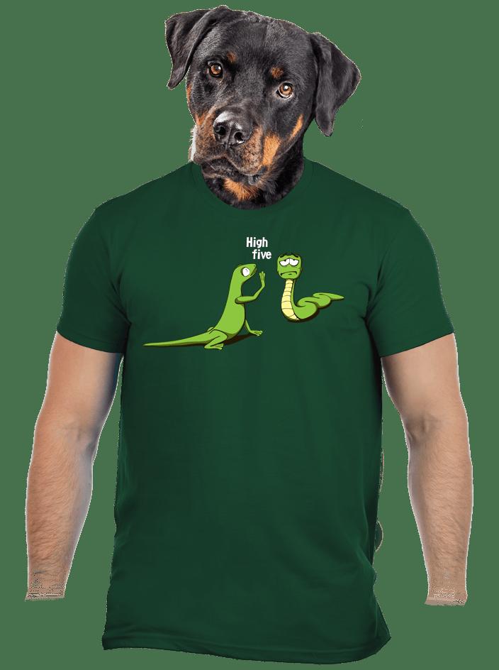 High Five zelené pánske tričko