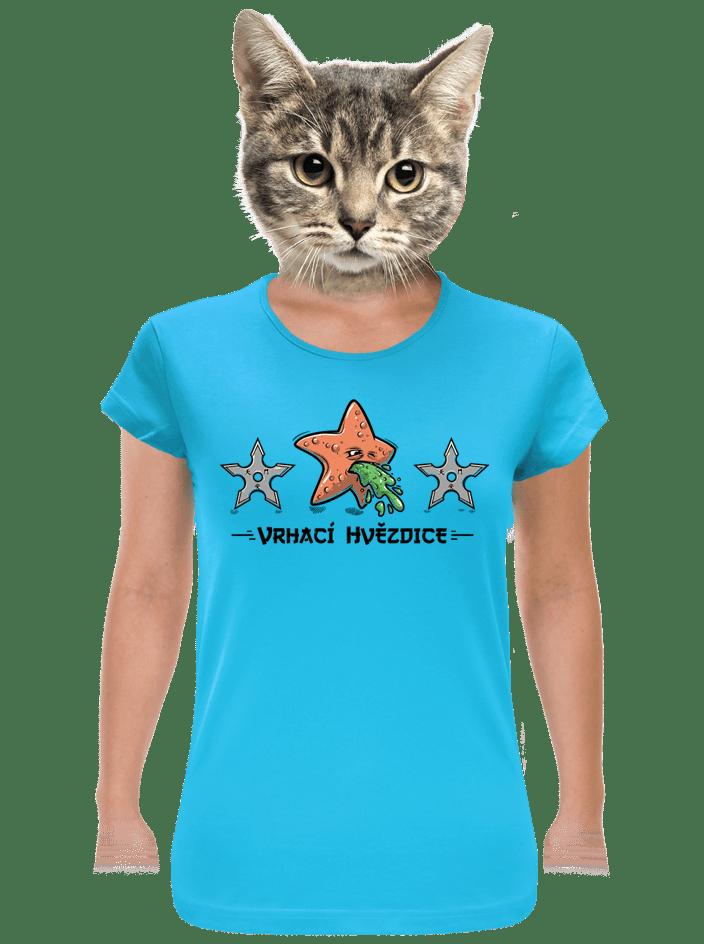 Vrhací hvězdice dámske tričko