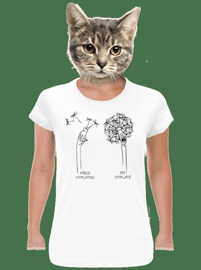 Výplata dámske tričko