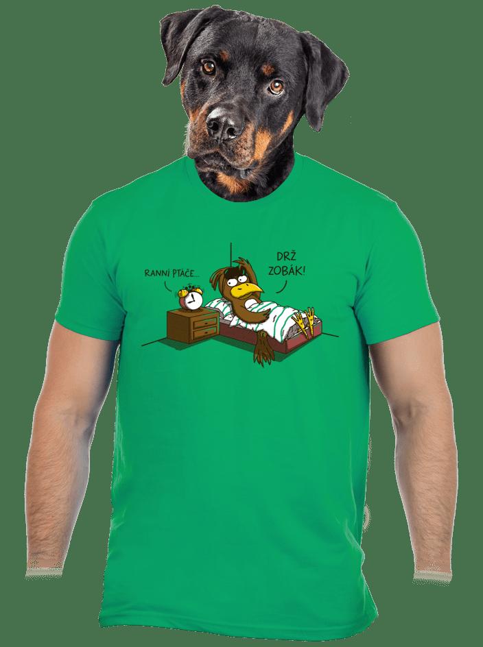 Ranní ptáče pánske tričko