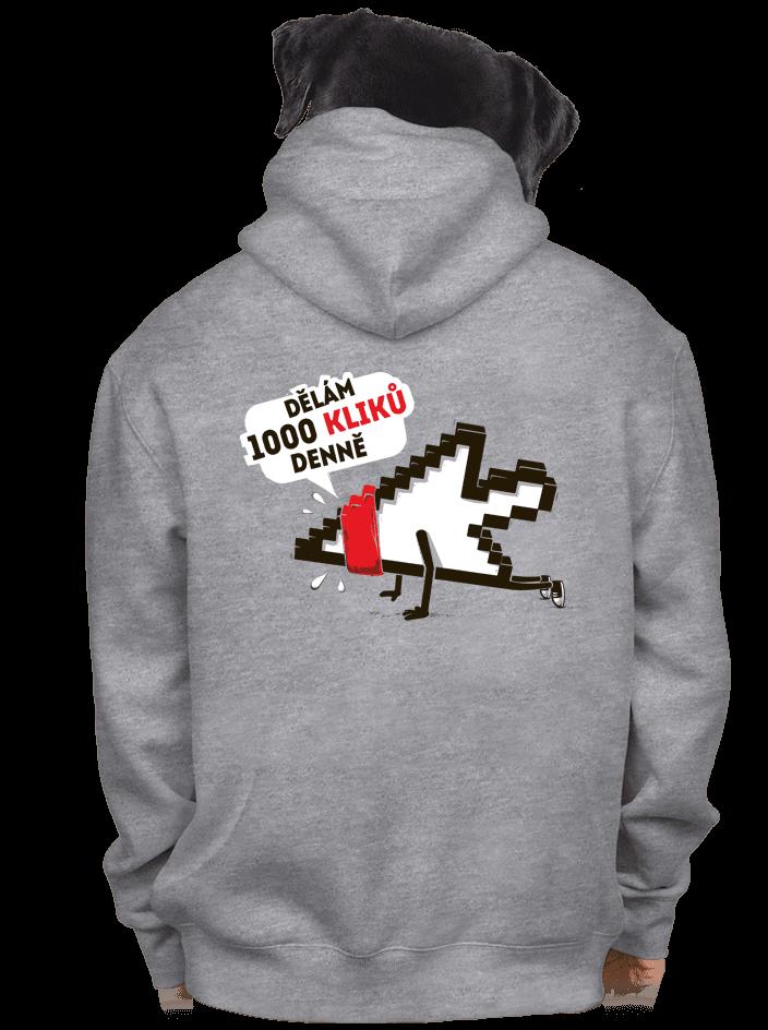 Klikař pánska mikina – chrbát