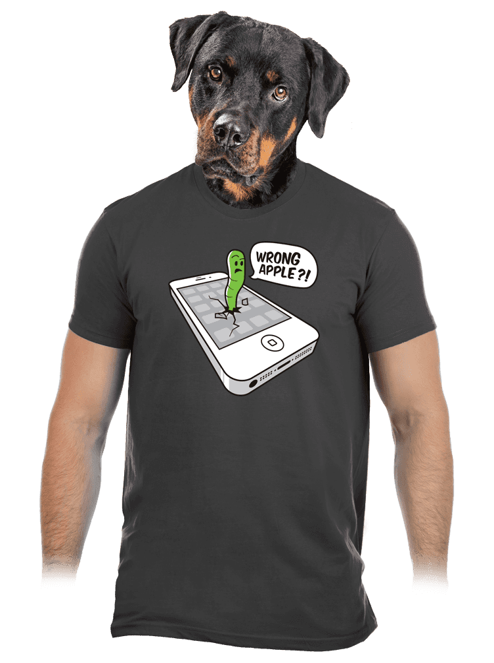 Wrong Apple šedé pánske tričko