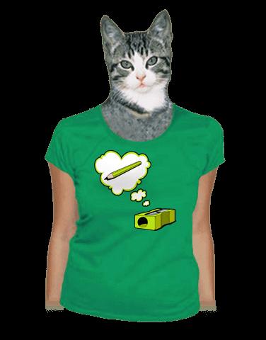 Strúhadlo zelené dámske tričko