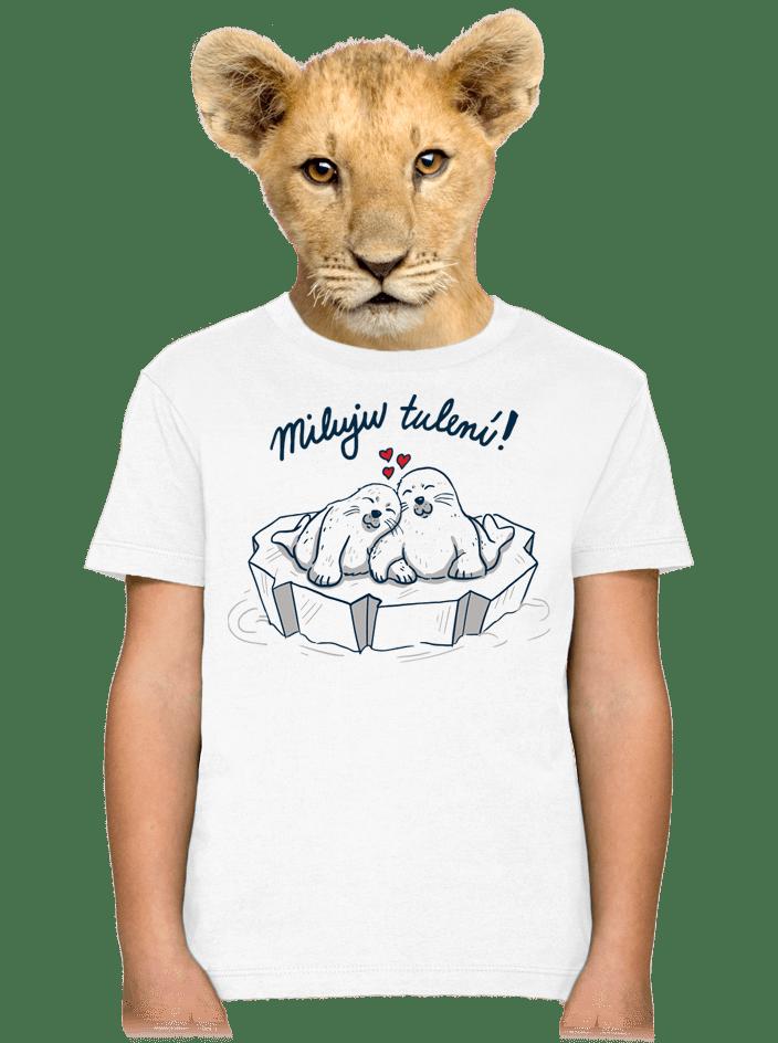 Miluju tulení detské tričko