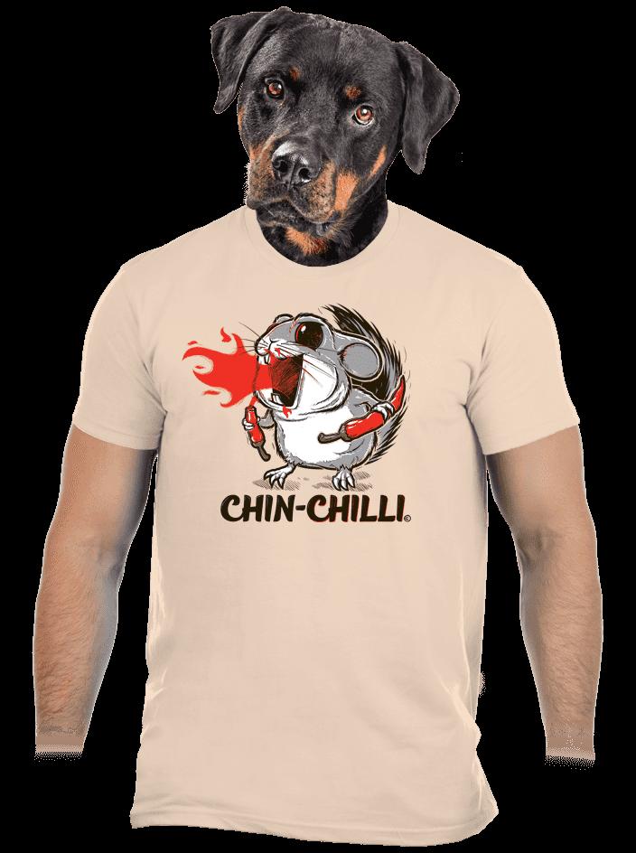 Chinchilli hnedé pánske tričko