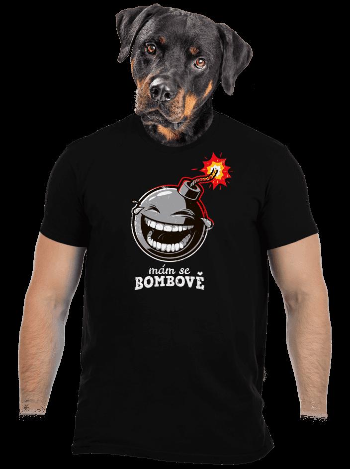 Mám se bombově čierne pánske tričko