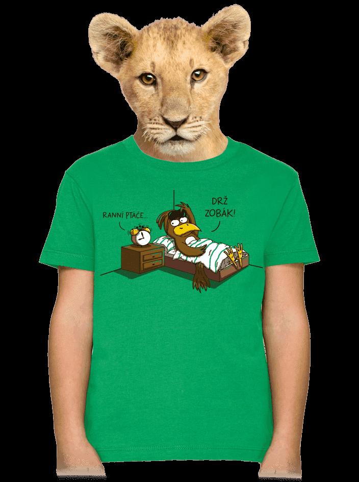 Ranní ptáče detské tričko