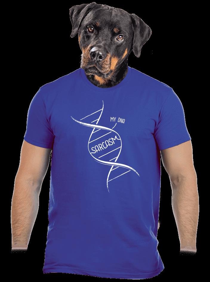 Sarcasm modré pánske tričko