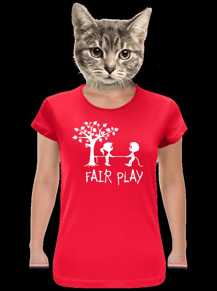 Fair play červené dámske tričko