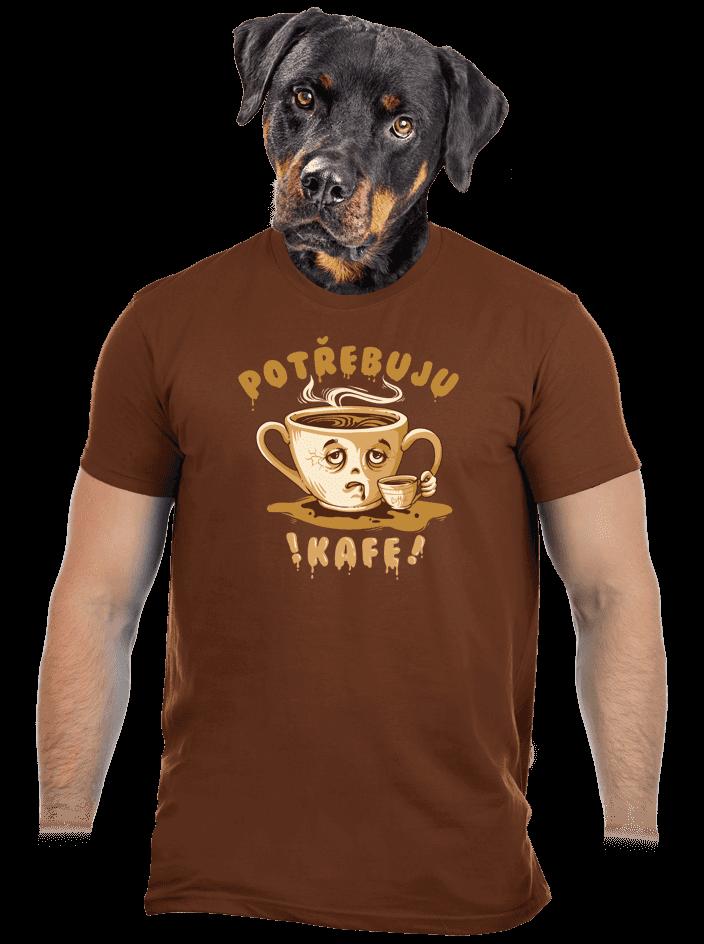 Potřebuju kafe pánske tričko