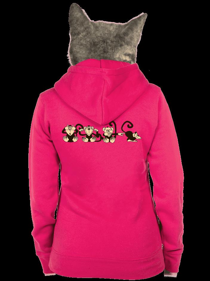 Opica dámska mikina – chrbát