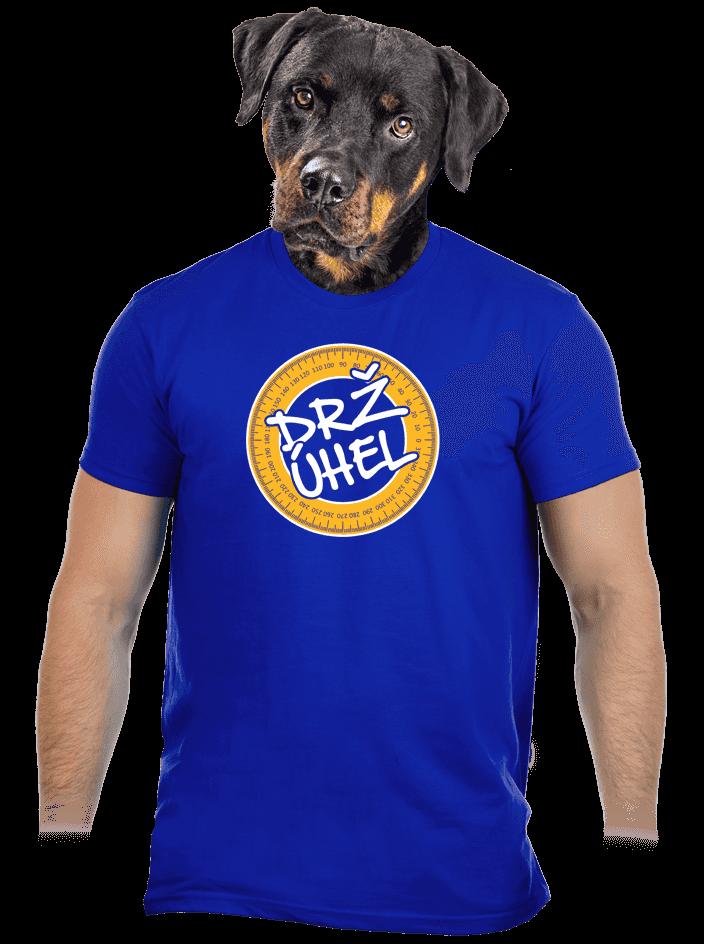Drž úhel modré pánske tričko