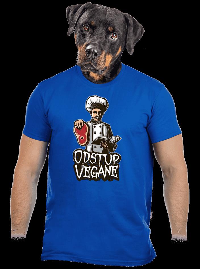 Odstup vegane modré pánske tričko