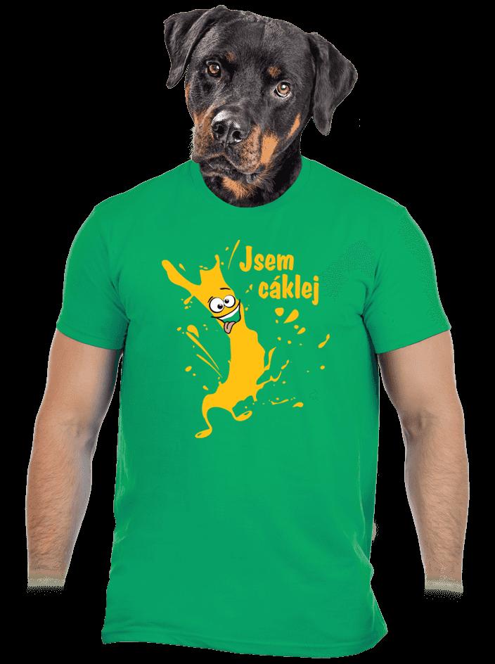 Cáklej zelené pánske tričko