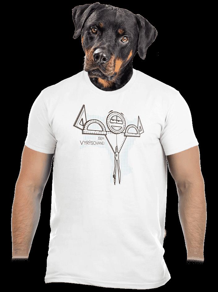 Vyrýsovanej pánske tričko