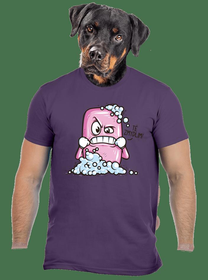 Zmydlím tě fialové pánske tričko