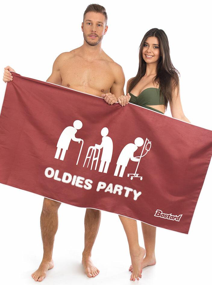 Oldies party rýchloschnúca osuška
