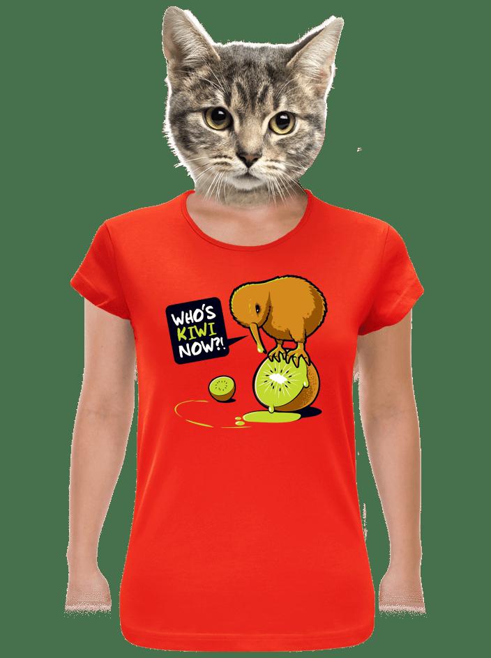 Kiwi červené dámske tričko
