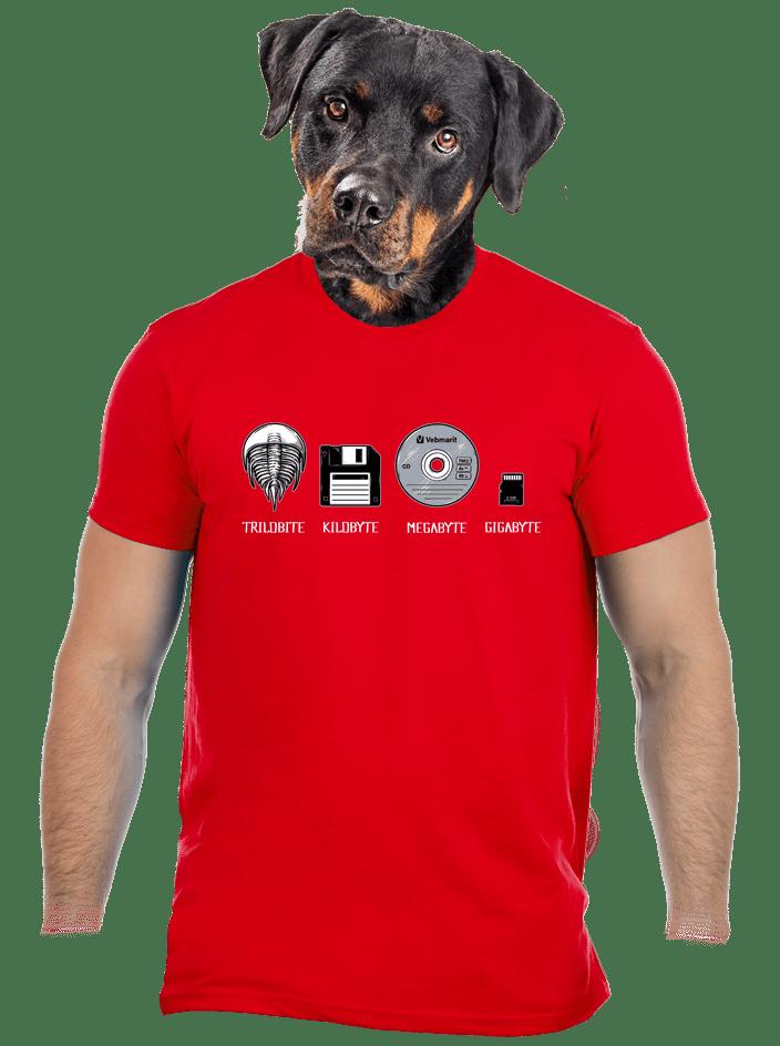Trilobite červené pánske tričko