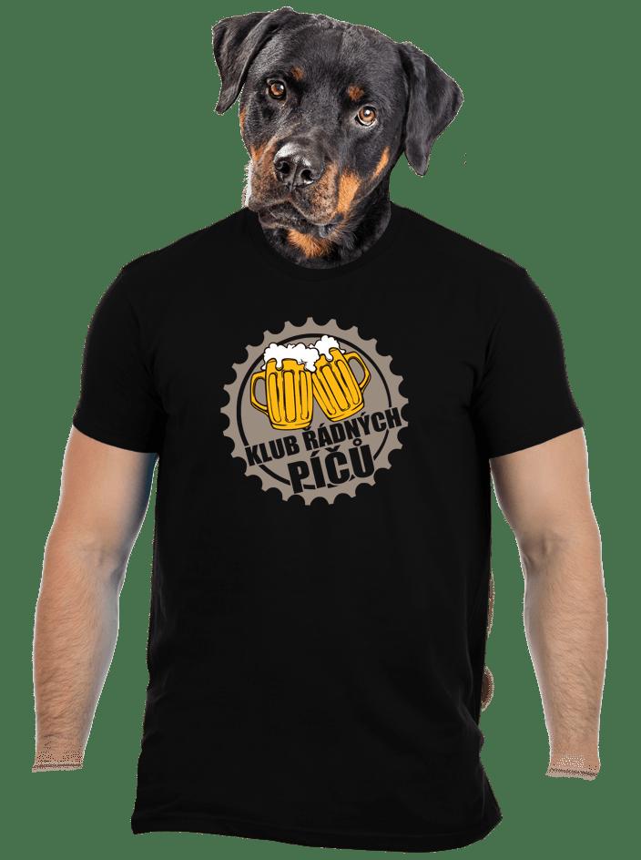 Klub riadnych píčů čierne pánske tričko
