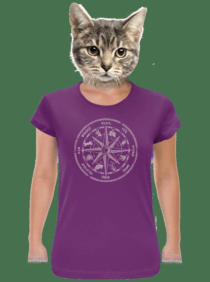 Alkoholický kompas dámske tričko