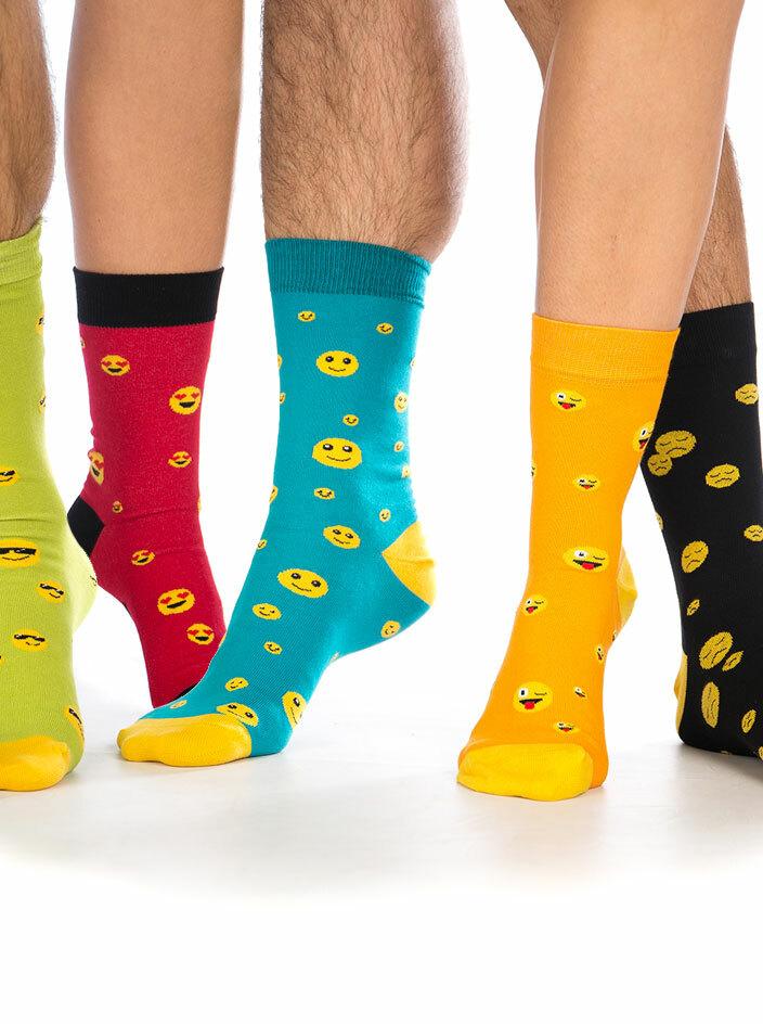 Smajlík set 5 párov ponožiek