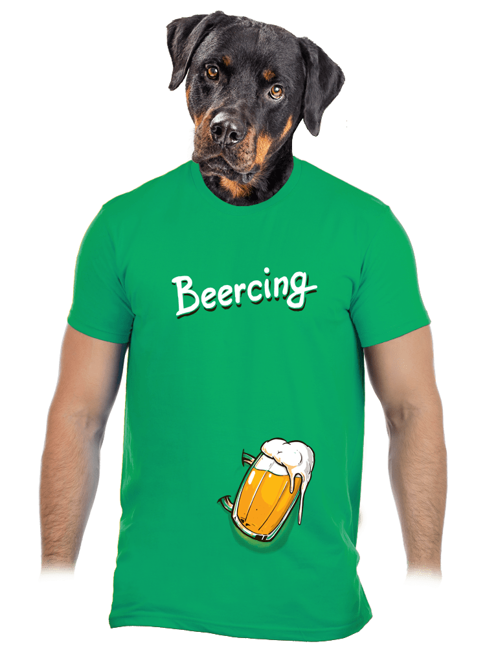 Beercing zelené pánske tričko