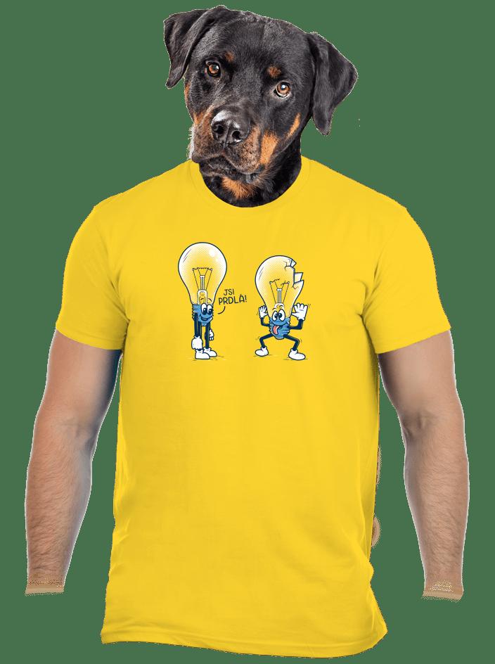 Prdlá žlté pánske tričko