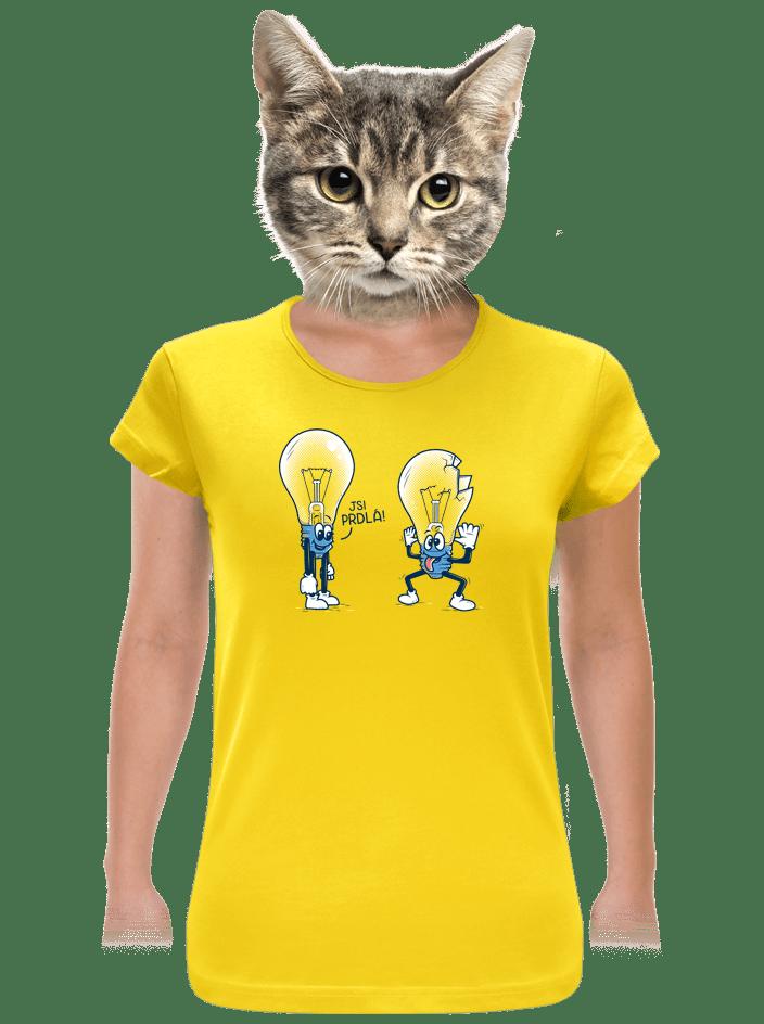 Prdlá žlté dámske tričko
