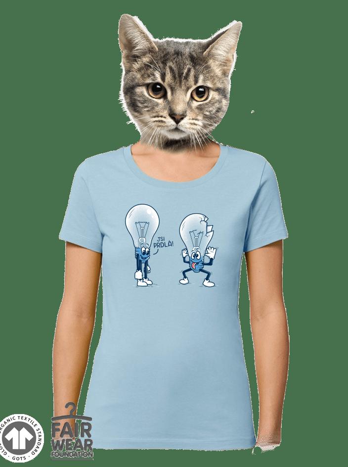 Prdlá modré dámske BIO tričko