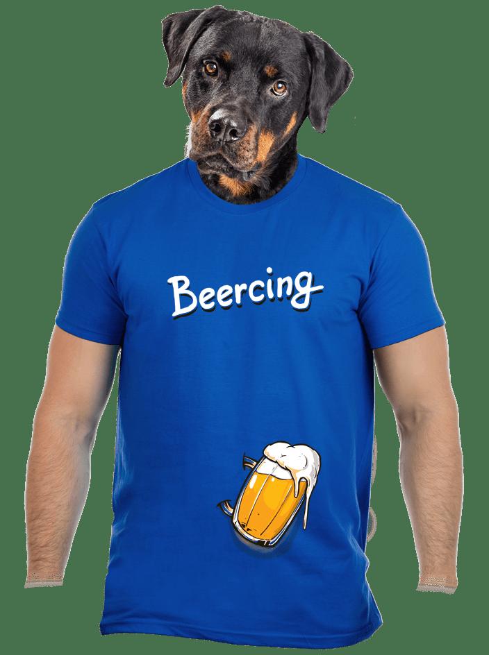 Beercing modré pánske tričko