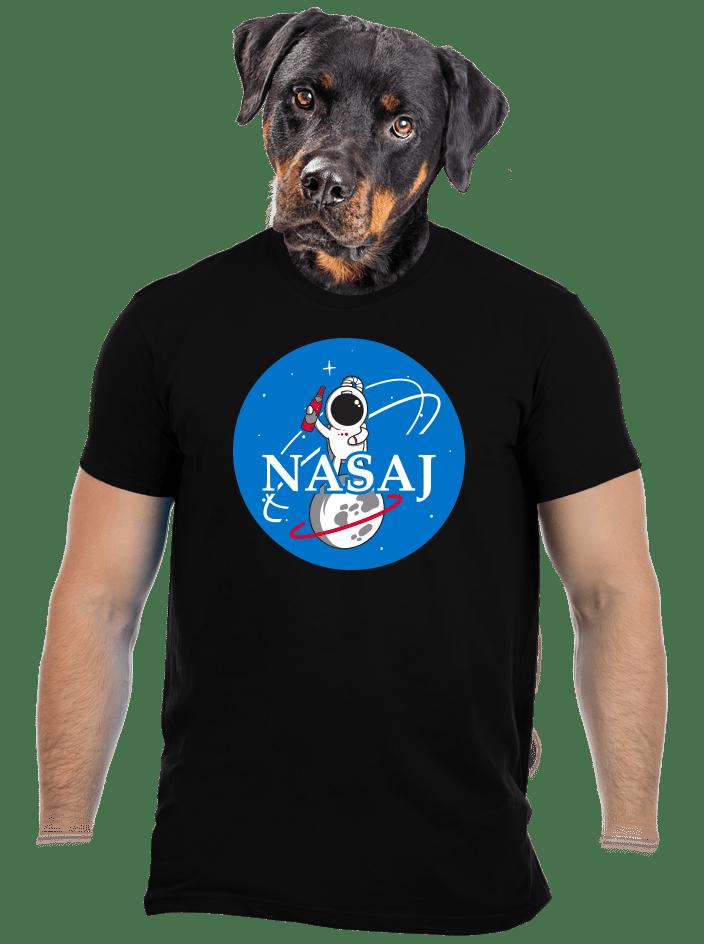 Nasaj čierne pánske tričko