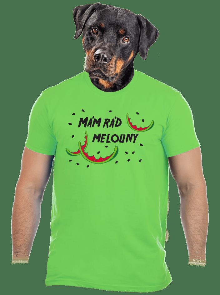 Melouny zelené pánske tričko