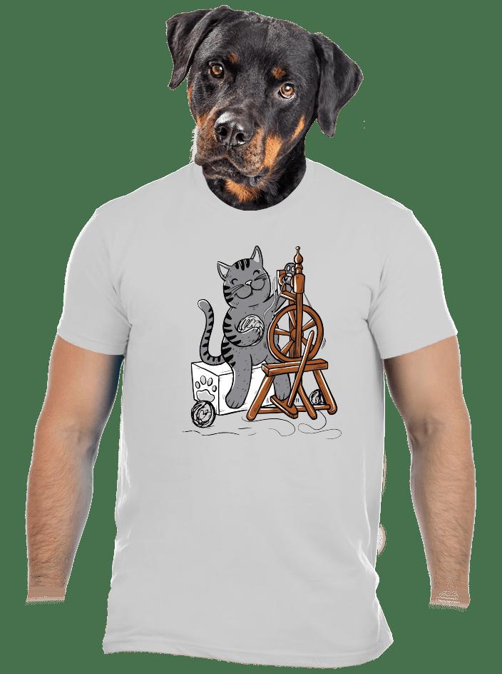Mačka pradie pánske tričko