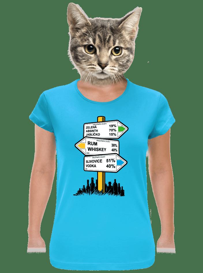Rozcestník dámske tričko