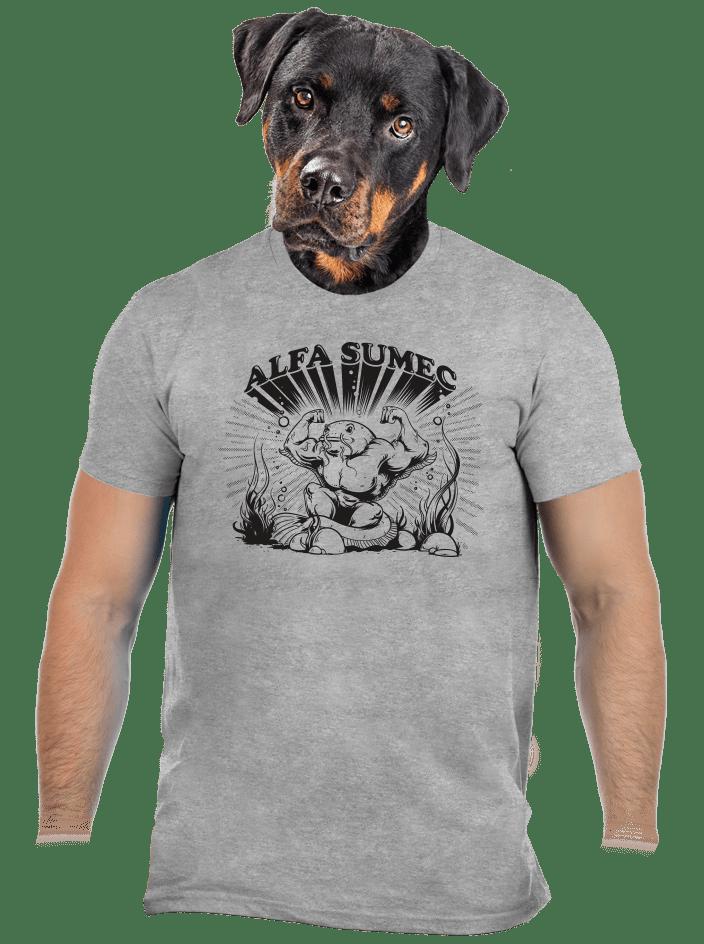 Alfasumec šedé pánske tričko