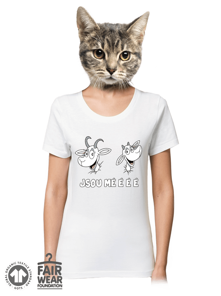 Kozy biele dámske tričko