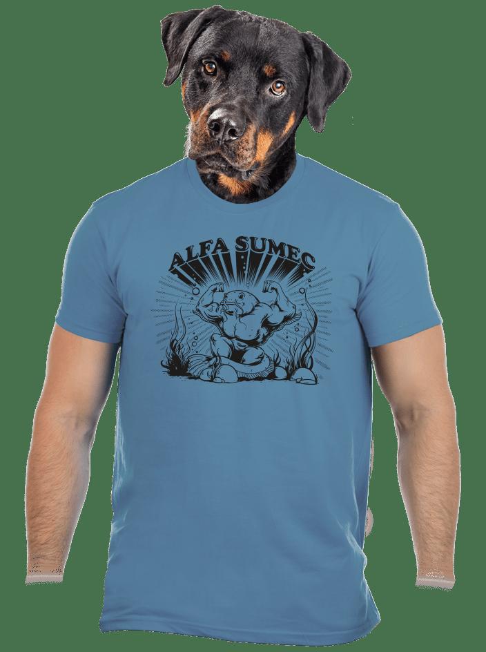Alfasumec modré pánske tričko