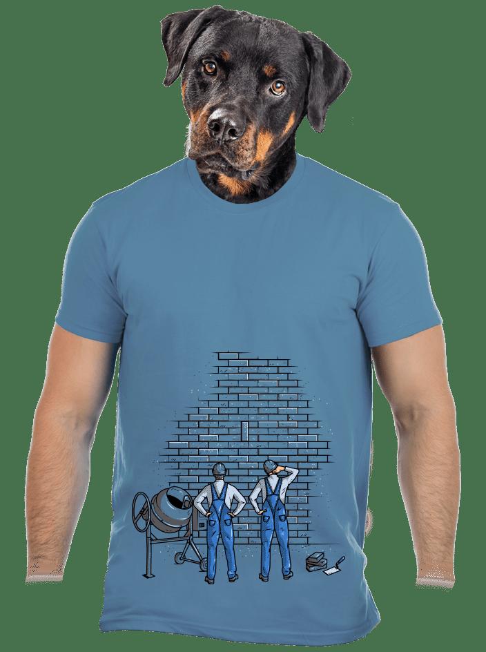 Zedníci modré pánske tričko