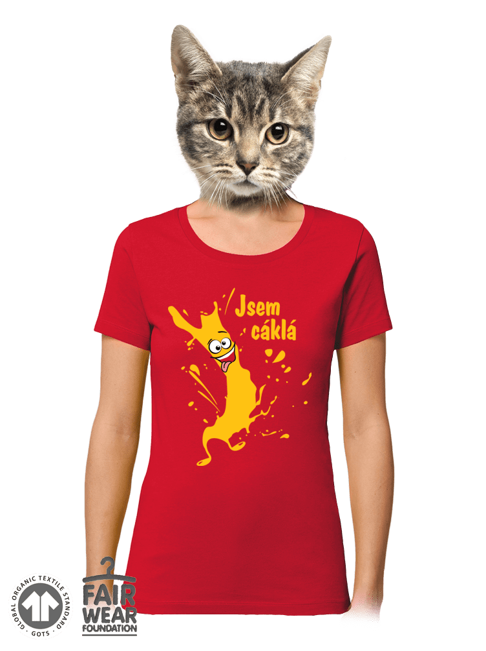 Cáklá dámske BIO tričko
