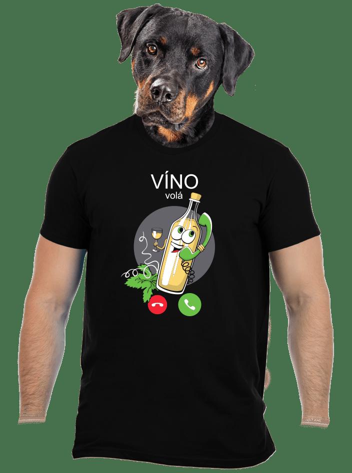 Biele víno volá pánske tričko